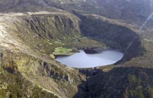 El cráter del volcan