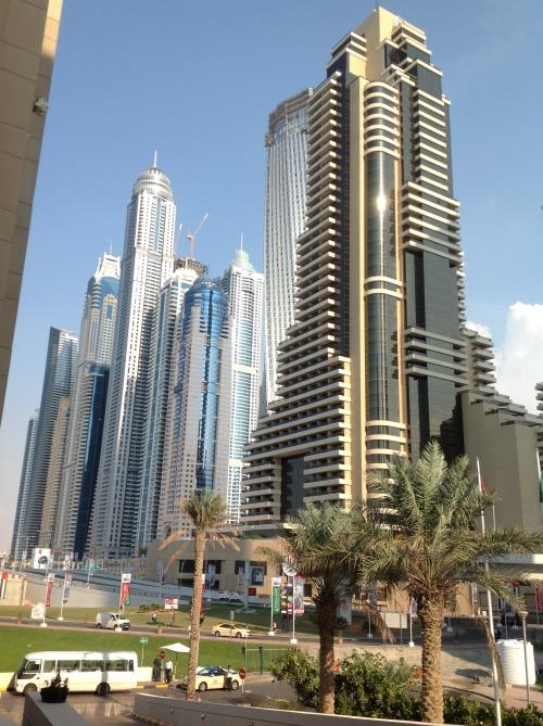 Vista de los rascacielos de DUBAI